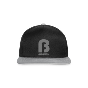 Snap Back Hat Black and Silver with Silver Bedfunk Logo  - Snapback Cap