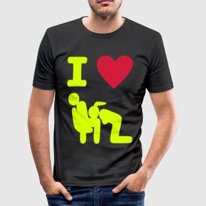 Blowing in the park - Männer Slim Fit T-Shirt