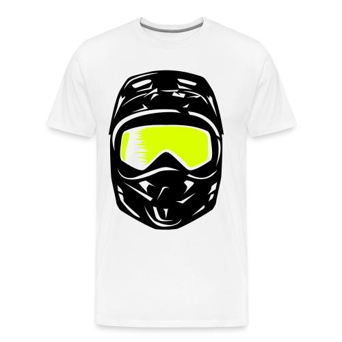 T-Shirt Casque Cross  - T-shirt Premium Homme