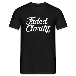 FADED CLARITY BLACK WITH WHITE SCRIPT T-SHIRT - Men's T-Shirt