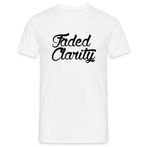 FADED CLARITY WHITE WITH BLACK SCRIPT T-SHIRT - Men's T-Shirt