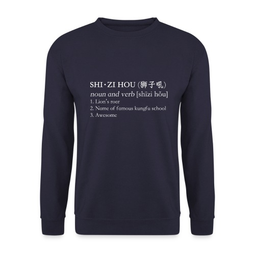 Shizi Hou Dictionary Sweater (navy blue) - Mannen sweater