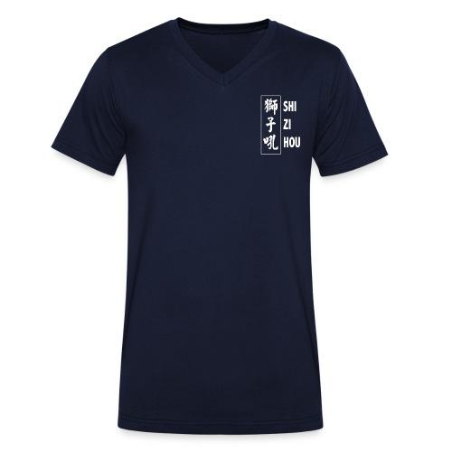 Official Shizi Hou T-shirt (navy blue) - Mannen bio T-shirt met V-hals van Stanley & Stella