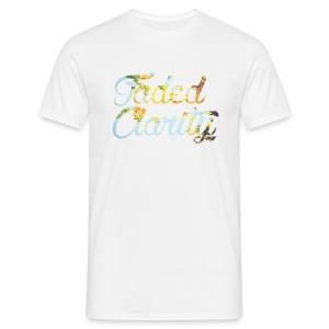 FADED CLARITY WHITE WITH YELLOW BLOSSOM SCRIPT T-SHIRT - Men's T-Shirt