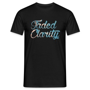 FADED CLARITY BLACK WITH BLOSSOM SCRIPT T-SHIRT - Men's T-Shirt