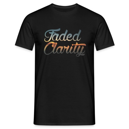 FADED CLARITY BLACK WITH SUNSET SCRIPT T-SHIRT - Men's T-Shirt