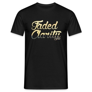FADED CLARITY BLACK WITH PIER SCRIPT T-SHIRT - Men's T-Shirt