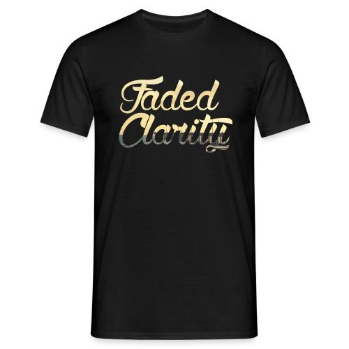 FADED CLARITY BLACK WITH PIER SCRIPT T-SHIRT - Men's T-Shirt