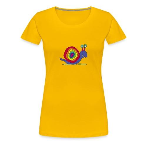 bunte Schnecke Stielauge Regenbogen Graffiti Kunst - Women's Premium T-Shirt