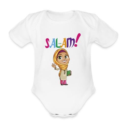 SALAM N°1 Féminin manche courte - Body bébé bio manches courtes