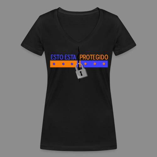 Espacio Protegido - Camiseta ecológica mujer con cuello de pico de Stanley & Stella