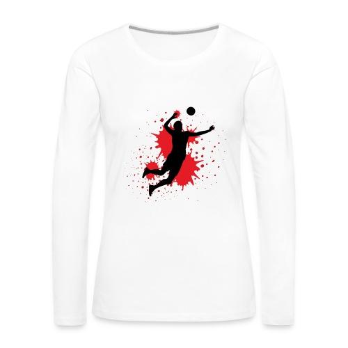 Handball Farbklecks - Frauen Premium Langarmshirt
