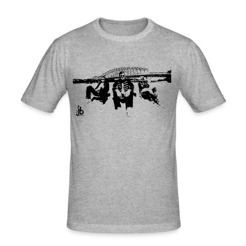 the jimibeat under the Bridge - Männer Slim Fit T-Shirt