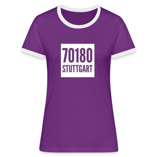 70180 ist sportiv - Frauen Kontrast-T-Shirt