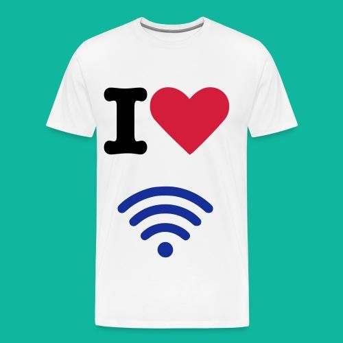 I (Heart) (Wi-Fi) Tee - Men's Premium T-Shirt
