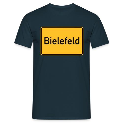 Ortsschild Bielefeld - Männer T-Shirt