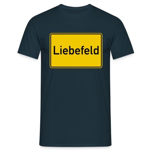 Ortsschild Liebefeld - Männer T-Shirt