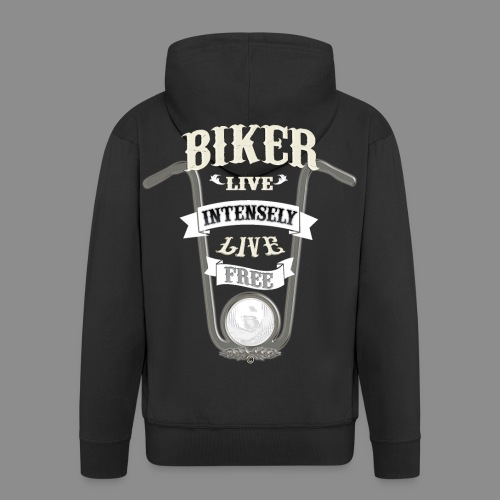 Biker live Free - Chaqueta con capucha premium hombre