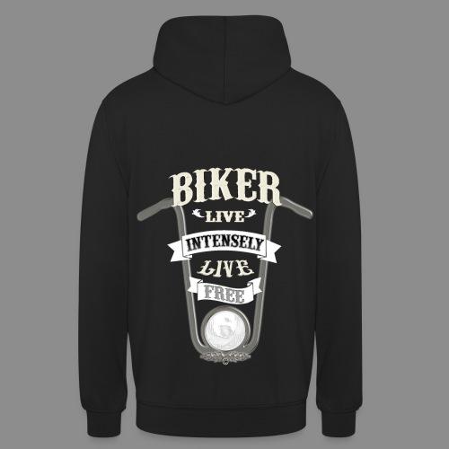 Biker live Free - Sudadera con capucha unisex