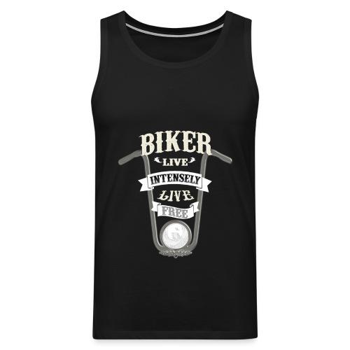 Biker live Free - Tank top premium hombre