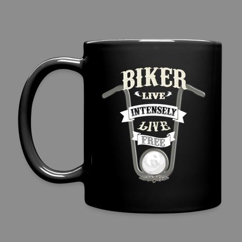 Biker live Free - Taza de un color