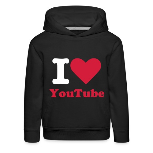 I Love YouTube T Shirt - Kids' Premium Hoodie