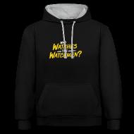 Pullover & Hoodies ~ Kontrast-Kapuzenpullover ~ Who watches the watchmen? Kontrast-Hoodie