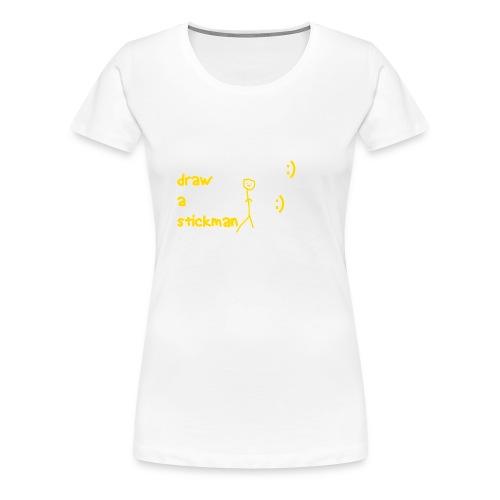 Draw a stickman Ladys - Women's Premium T-Shirt