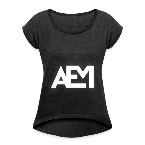 AEM T-Shirt [Women] - Frauen T-Shirt mit gerollten Ärmeln