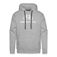 Pullover & Hoodies ~ Männer Premium Kapuzenpullover ~ burn fat, not oil  Hoodie