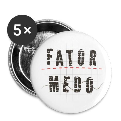 Broche logo Fator Medo - Buttons large 2.2''/56 mm(5-pack)