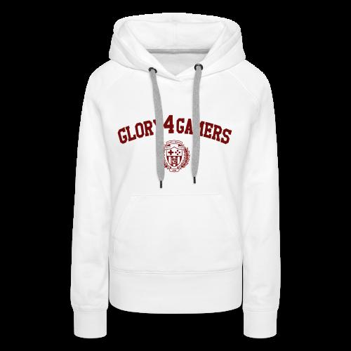 Sweat-shirt Sweat G4G Academy Blanc - Sweat-shirt à capuche Premium pour femmes