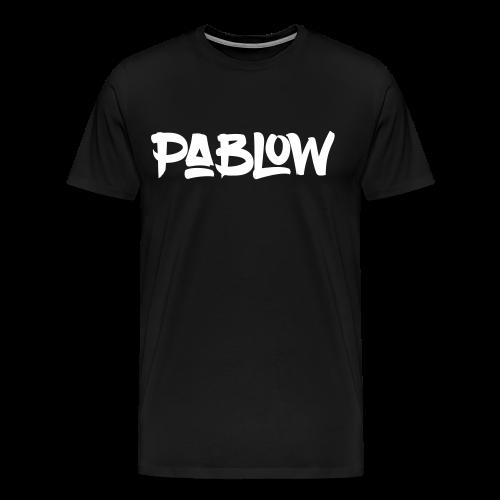 Pablow Logo T-Shirt - Mannen Premium T-shirt