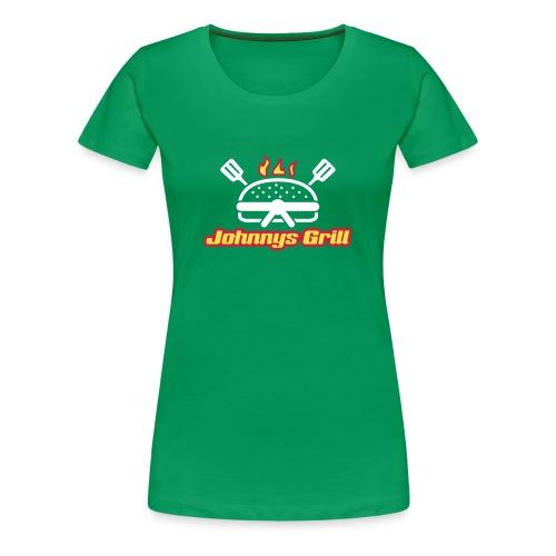 Johnnys grill dam - Premium-T-shirt dam