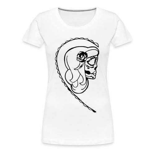 HER SUGAR SKULL T SHIRT  - Women's Premium T-Shirt