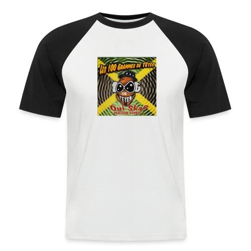 Tee shirt baseball manches courtes Homme QUI SKA - T-shirt baseball manches courtes Homme