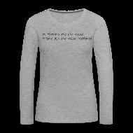Manches longues ~ Tee shirt manches longues Premium Femme ~ Numéro de l'article 105776092