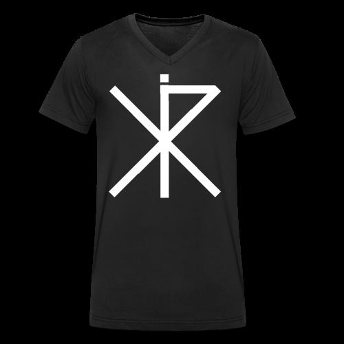 RYKKI LOGO ONLY - Männer Bio-T-Shirt mit V-Ausschnitt von Stanley & Stella