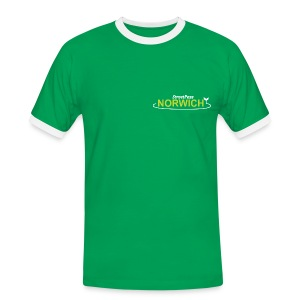 NEW Green Streetpass Norwich - Men's Ringer Shirt