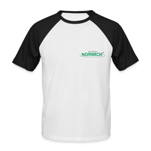 NEW white Streetpass Norwich - Men's Baseball T-Shirt