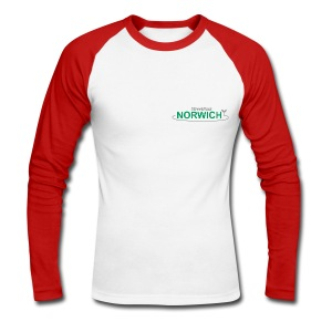 NEW white Streetpass Norwich - Men's Long Sleeve Baseball T-Shirt