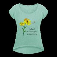 Tee shirts ~ T-shirt Femme à manches retroussées ~ Numéro de l'article 105778029