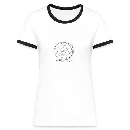 Sportief damesshirt van Noddy & Saartje - Vrouwen contrastshirt