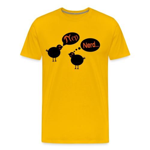 Vogel Pi Nerd Männer T-Shirt - Männer Premium T-Shirt
