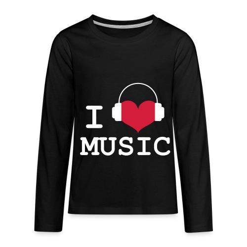 t shirt child  - i Love Music - Teenagers' Premium Longsleeve Shirt