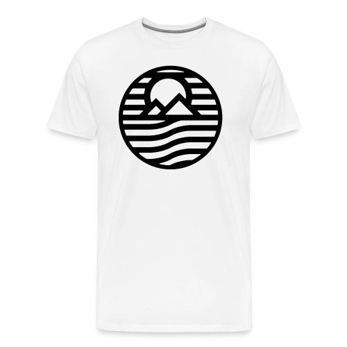 Pyramids Sunset White Shirt - Men's Premium T-Shirt