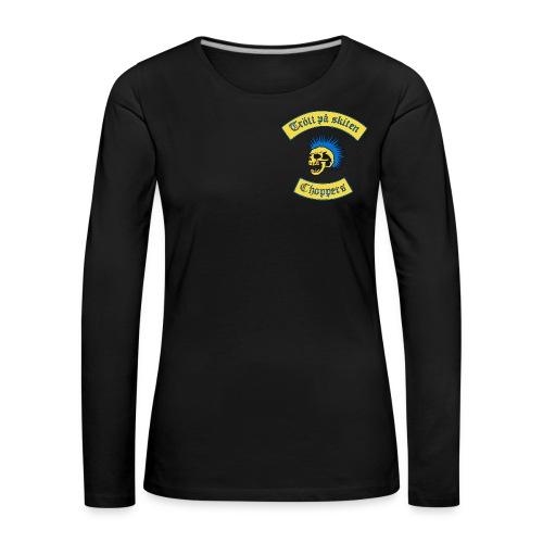 Dam långsleeve - Långärmad premium-T-shirt dam