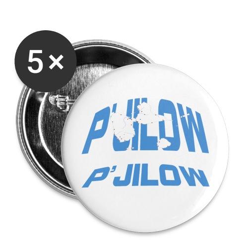 P'jilow badge moyen 56 mm - Lot de 5 grands badges (56 mm)