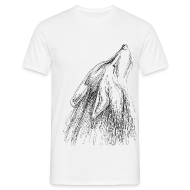 T-Shirts ~ Männer T-Shirt ~ heulender Wolf