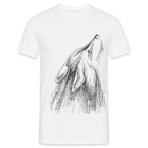 heulender Wolf - Männer T-Shirt
